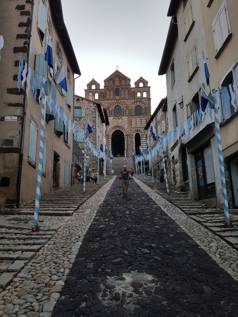 Church at the top of Le Puy-en-Valey
